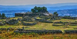 Proto-historisk bosättning i Sanfins de Ferreira Arkivfoto