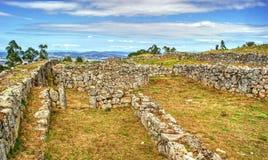 Proto-historisk bosättning i Sanfins de Ferreira Arkivbilder