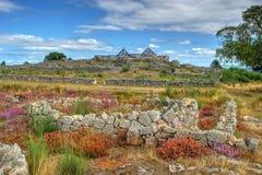 Proto-historisk bosättning i Sanfins de Ferreira royaltyfria bilder