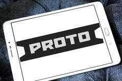 Proto Tools company logo. Logo of Proto Tools company on samsung tablet . Proto Tools is an American industrial hand tool company. The company is credited with Royalty Free Stock Images