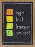 Protocole de transfert des textes hyper - HTTP photographie stock