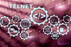 Protocole r?seau de t?l?type Client terminal virtuel de telnet Concept d'Internet et de r?seau telnet