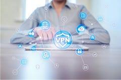 Protocole r?seau priv? virtuel de VPN Technologie de s?curit? de Cyber et de connexion d'intimit? Internet anonyme photo libre de droits