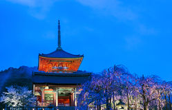 protokół z kioto do Świątyni kiyomizu Zdjęcia Stock