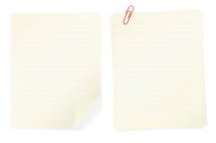 Protokollanmerkungen getrennt auf weißem Hintergrund Lizenzfreies Stockbild