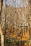 Protokollkabine im Holz Stockfotos