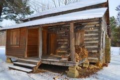 Protokollkabine im Schnee Lizenzfreie Stockfotos