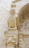 Protome domkyrka Bisceglie (Apulia) Italien Arkivfoto