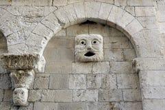 Protome Duomo Molfetta (Apulia) ITALIEN Fotografering för Bildbyråer