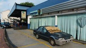 The Proton Garage. Royalty Free Stock Photo
