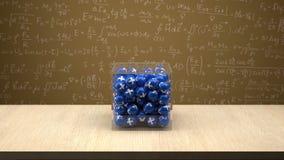Proton pudełko przed physics deską Fotografia Royalty Free
