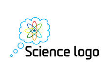 Proton science logo. A logo that is highly customizable and can be used for science related businesses, events or organizations. It Stock Image