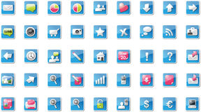 Proton_webb_icons. Modern icons for the web, mixed edittion Royalty Free Stock Photography