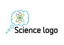 Protonowy nauka logo royalty ilustracja