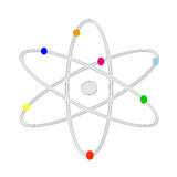 Protons. Vector illustrated of an atom Royalty Free Stock Photos