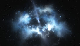 Protoplanetary disk. Disk of dust and gas that surround young star Royalty Free Stock Photo