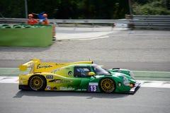 Prototipo automobilistico di sport di Onroak nell'azione immagine stock