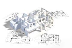 Prototipo de la casa ilustración del vector