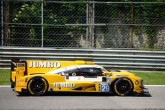 Prototipo de los deportes de Dallara conducido por Jan Lammers Fotos de archivo libres de regalías