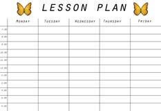 Prototipo del plan de lección libre illustration