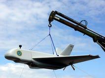 Prototipo militar del aeroplano imágenes de archivo libres de regalías