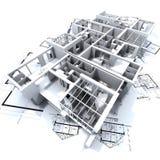 Prototipo y modelo de Appartmen Imagen de archivo libre de regalías