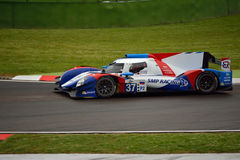 Prototyp för européLe Mans serie LMP2 på Imola 2015 Royaltyfri Foto