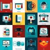 Prototypage et icônes de modélisation illustration libre de droits