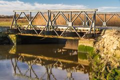 Free Prototype Bailey Bridge On Stanpit March. Stock Image - 117894281