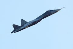 Prototype de Sukhoi PAK fa T-50, vue de côté image libre de droits