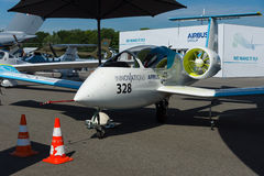 A prototype electric aircraft being developed by Airbus Group - Airbus E-Fan. Royalty Free Stock Images