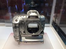 The prototype magnesium alloy of Canon D1 camera Stock Images
