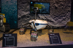 The prototype of Moon rover Robex LRU. BERLIN, GERMANY - JUNE 01, 2016: The prototype of Moon rover Robex LRU. The stand of German Aerospace Center (German: DLR Royalty Free Stock Photography