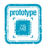 Prototype rubber stamp Royalty Free Stock Photo