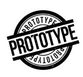 Prototype rubber stamp Stock Images