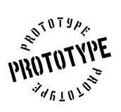 Prototype rubber stamp. Grunge design with dust scratches. Effects can be easily removed for a clean, crisp look. Color is easily changed Stock Photos