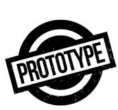 Prototype rubber stamp. Grunge design with dust scratches. Effects can be easily removed for a clean, crisp look. Color is easily changed Stock Images