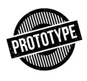 Prototype rubber stamp. Grunge design with dust scratches. Effects can be easily removed for a clean, crisp look. Color is easily changed Stock Photo