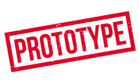 Prototype rubber stamp Stock Image