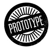 Prototype rubber stamp. Grunge design with dust scratches. Effects can be easily removed for a clean, crisp look. Color is easily changed Royalty Free Stock Photography