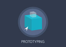 Prototyping concept flat icon Stock Image