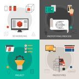 Prototyping I wzorowanie set Zdjęcia Stock