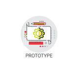 Prototyping Innovation Building Creation Icon. Vector Illustration Stock Photography