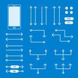 Prototyping structuur en interactieelementen Stock Afbeeldingen