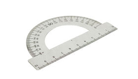 Protractor. On a white background stock image