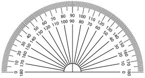 Protractor royalty free illustration