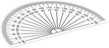 Protractor. Vector illustration of black protractor Stock Image