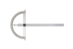 Protractor. Protractor on a white background stock photos