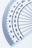 Protractor. Close up shot for background stock photos