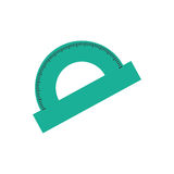Protractor angle meter Royalty Free Stock Images